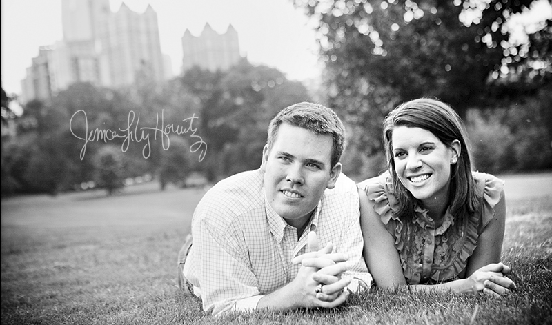 Engagement Portraits at Piedmont Park